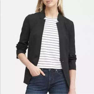 Banana Republic Unstructured Ponte Notch Blazer